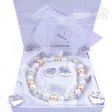Mother of the Bride / Groom  Wedding Bracelet - Choice of Charms & Colour